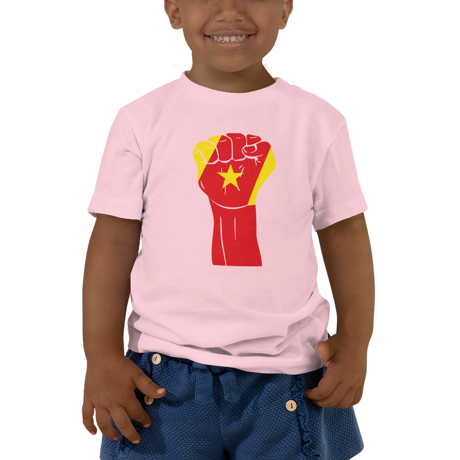 RAISED FIST 'AMHARA' — Short-sleeved Toddler T-shirt