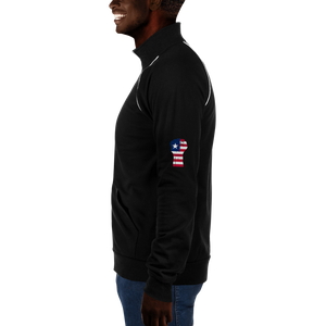 RAISED FIST 'LIBERIA' — Men's Piped Fleece Jacket