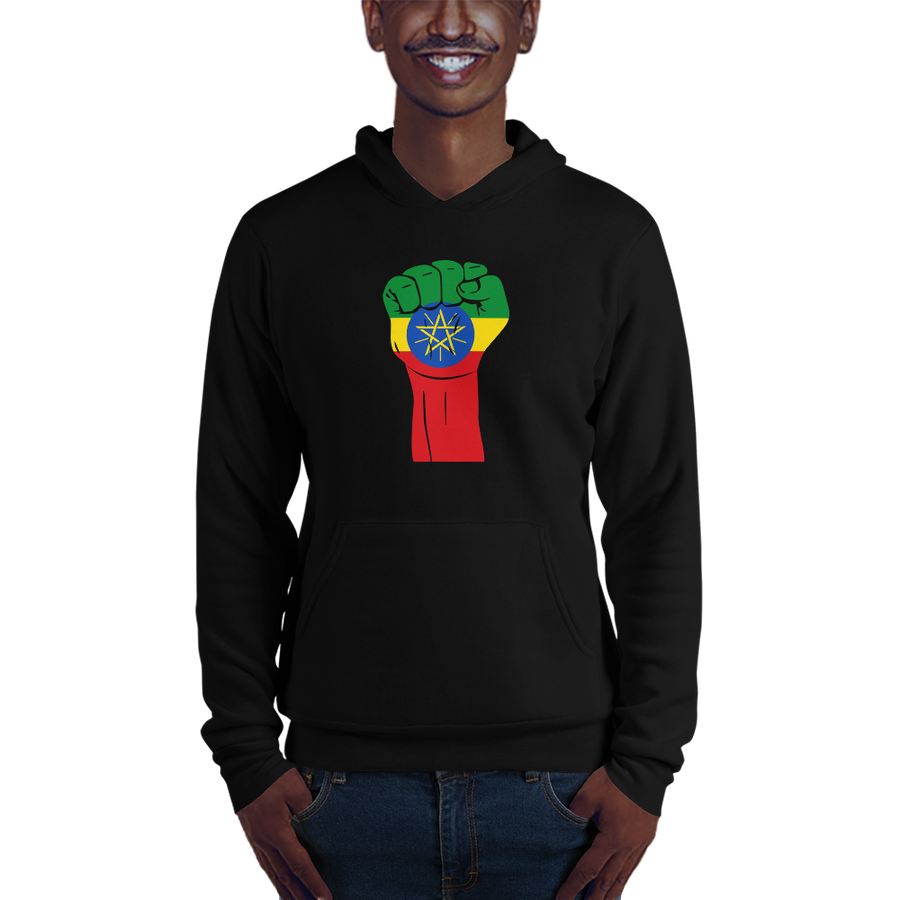 RAISED FIST 'ETHIOPIA' — Men's Pullover Hoodie