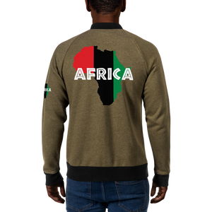 AFRICA (UNIA/WHITE) — Men's Bomber Jacket