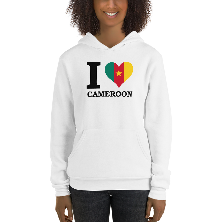 I ❤ CAMEROON (BLACK) — Women's Pullover Hoodie