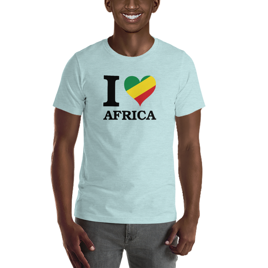 I ❤ AFRICA (RASTA/BLACK) — Men's Premium T-shirt