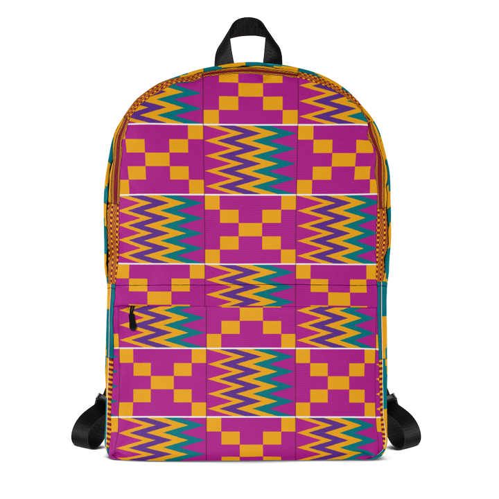 Asante Kente Print 'Aduonu nsia' — Backpack