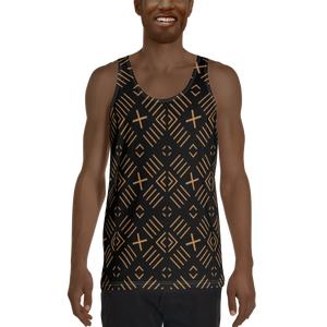 BÒGÒLANFINI 'FILA' (BLACK/SAND) — Hand-sewn Men's Tank Top