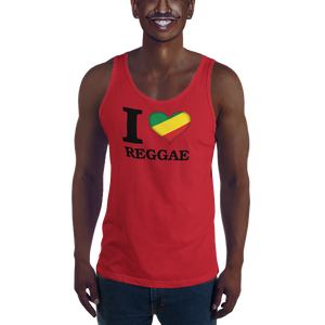 I ❤ REGGAE (RASTA/BLACK) — Men's Premium Tank Top