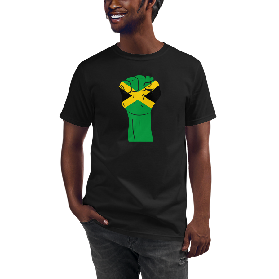 RAISED FIST 'JAMAICA' — Men's Organic T-shirt