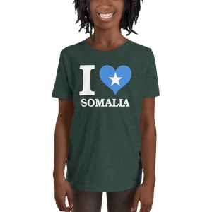 I ❤ SOMALIA (WHITE) — Short-sleeved Youth T-shirt