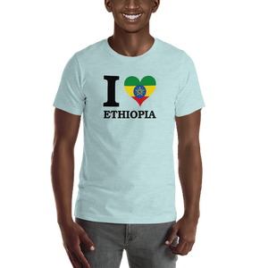 I ❤ ETHIOPIA (BLACK) — Men's Premium T-shirt