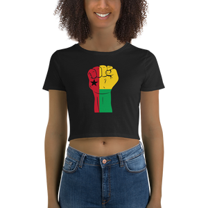 RAISED FIST 'GUINEA-BISSAU' — Women's Crop Tee