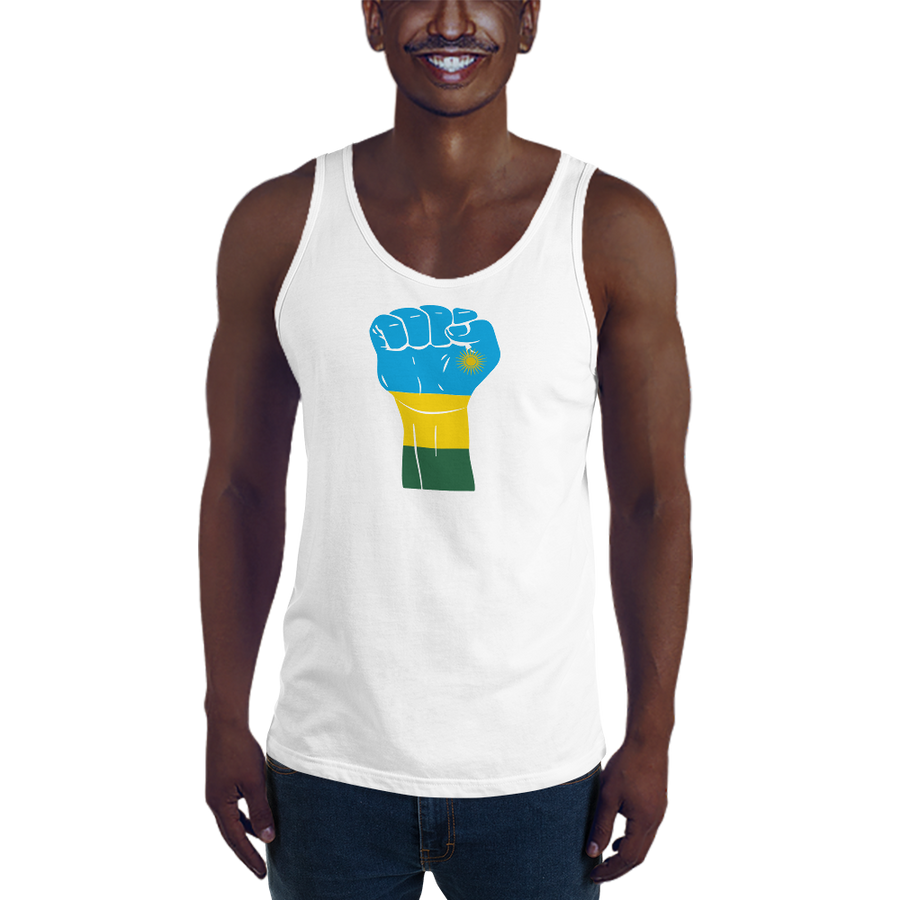 RAISED FIST 'RWANDA' — Men's Premium Tank Top