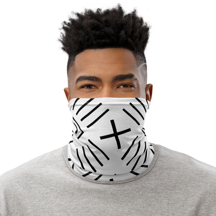 BÒGÒLANFINI 'FILA' (white/black) — Neck Gaiter