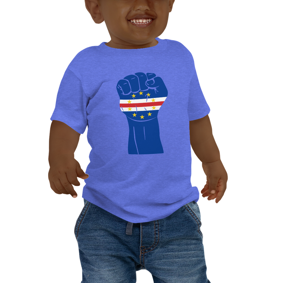 RAISED FIST 'CABO VERDE' — Short-sleeved Baby T-shirt