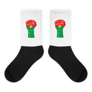 RAISED FIST 'BURKINA FASO' — Cushioned Socks