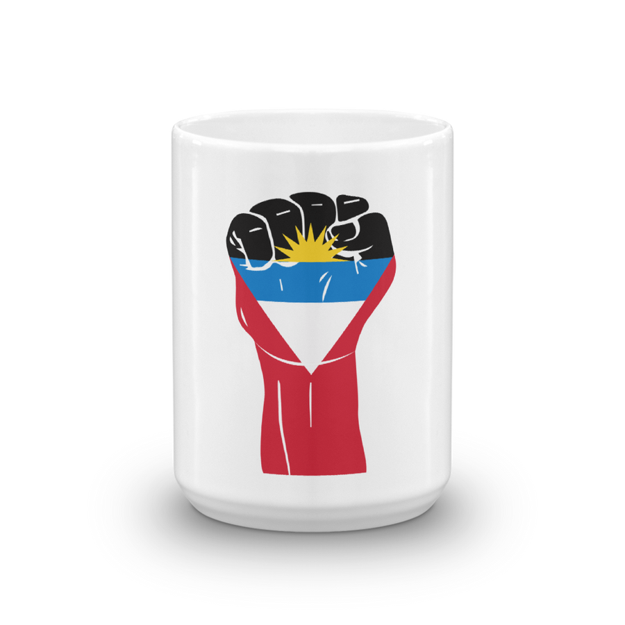 RAISED FIST 'ANTIGUA AND BARBUDA' — Coffee Mug
