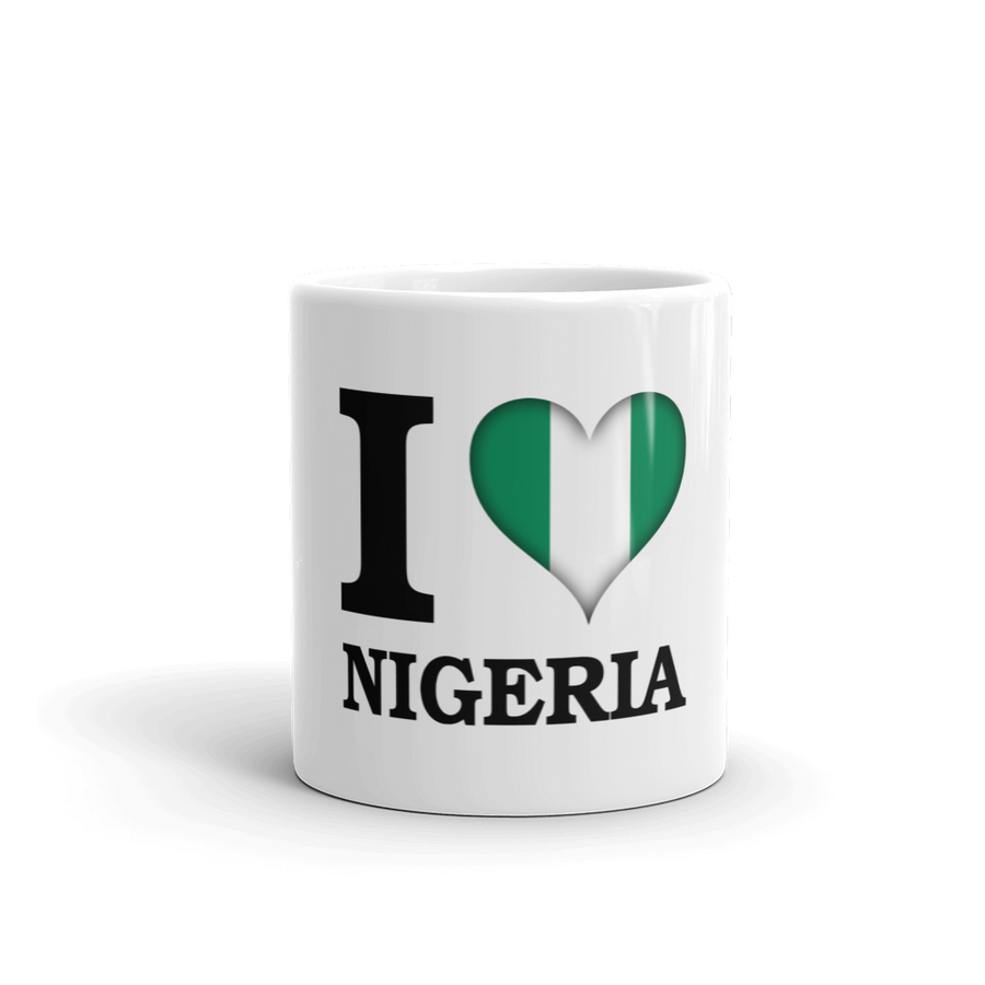 I ❤ NIGERIA (BLACK) — Coffee Mug