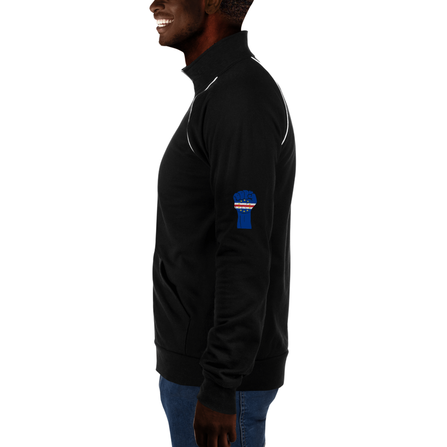 RAISED FIST 'CABO VERDE' — Men's Piped Fleece Jacket