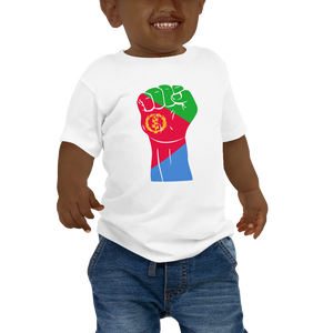 RAISED FIST 'ERITREA' — Short-sleeved Baby T-shirt