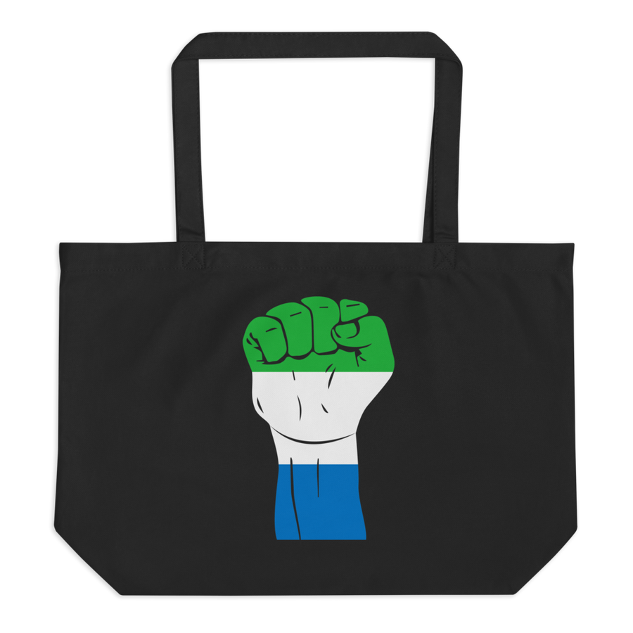 RAISED FIST 'SIERRA LEONE' — Organic Tote Bag