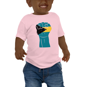 RAISED FIST 'BAHAMAS' — Short-sleeved Baby T-shirt
