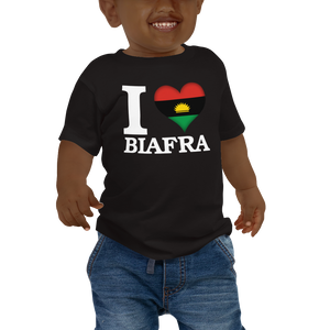 I ❤ BIAFRA (WHITE) — Short-sleeved Baby T-shirt