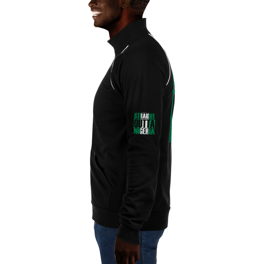 STRAIGHT OUTTA NIGERIA — Men's Piped Fleece Jacket
