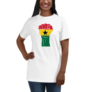 RAISED FIST 'GHANA' — Women's Organic T-shirt