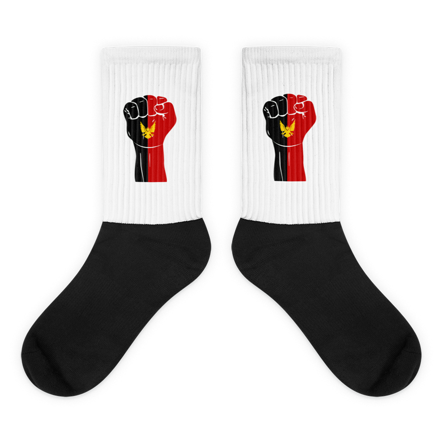 RAISED FIST 'BAMILEKE' — Cushioned Socks