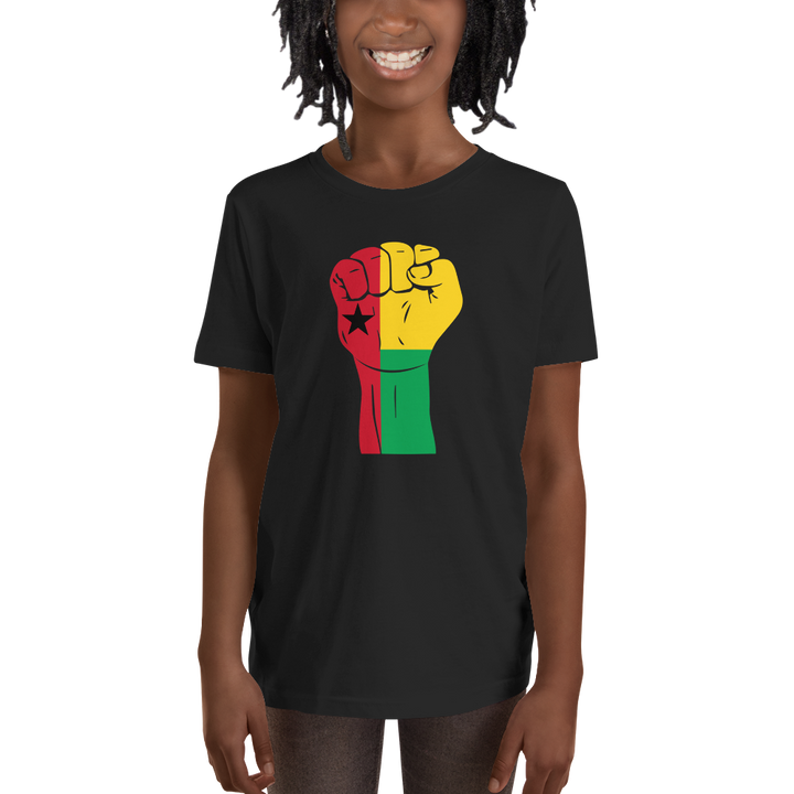 RAISED FIST 'GUINEA-BISSAU' — Short-sleeved Youth T-shirt