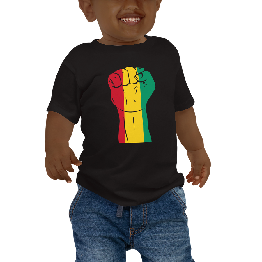 RAISED FIST 'GUINEA' — Short-sleeved Baby T-shirt