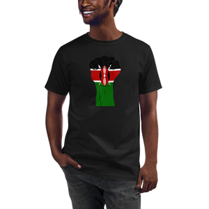 RAISED FIST 'KENYA' — Men's Organic T-shirt