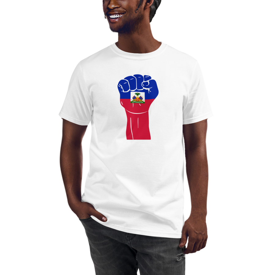 RAISED FIST 'HAITI' — Men's Organic T-shirt
