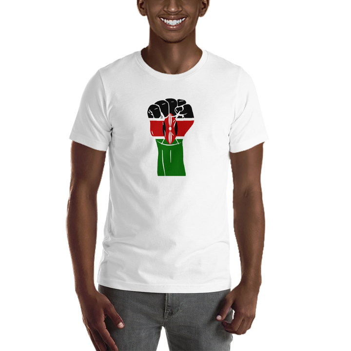 RAISED FIST 'KENYA' — Men's Premium T-shirt