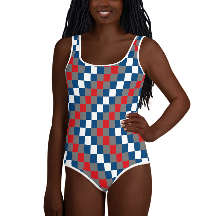 EWE KENTE 'EWO' — Hand-sewn Youth Swimsuit