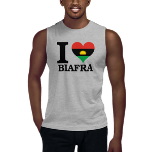 I ❤ BIAFRA (BLACK) — Men's Muscle Shirt