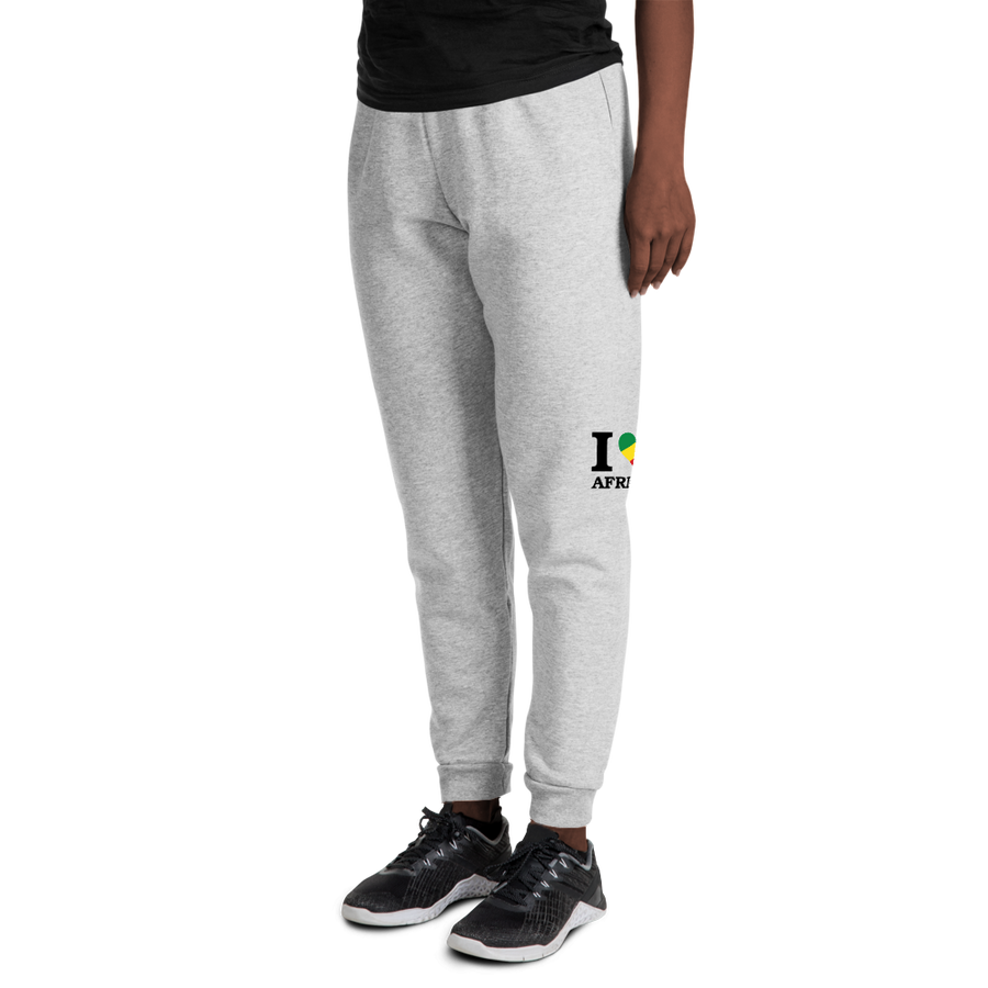 I ❤ AFRICA (RASTA/BLACK) — Women's Sweatpants