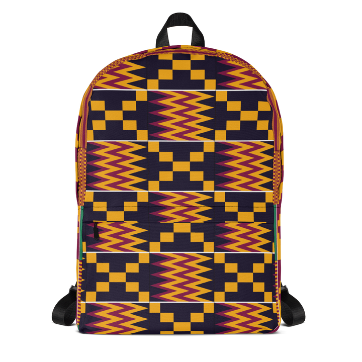 Asante Kente Print 'Aduonu nan' — Backpack