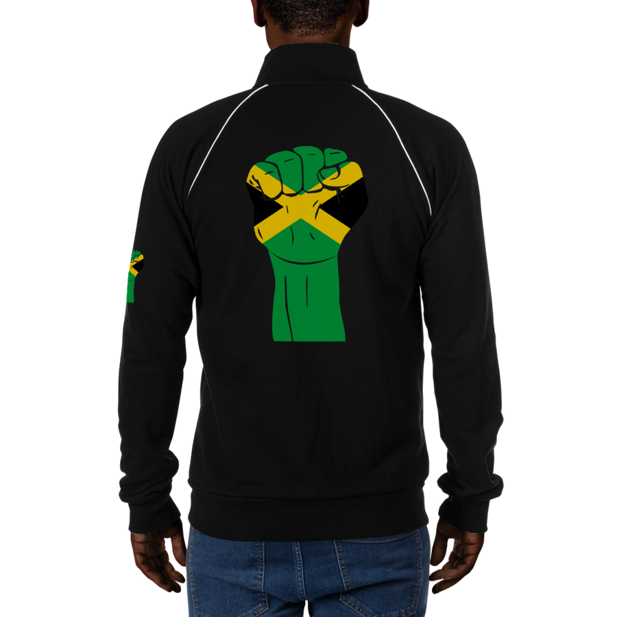 RAISED FIST 'JAMAICA' — Men's Piped Fleece Jacket