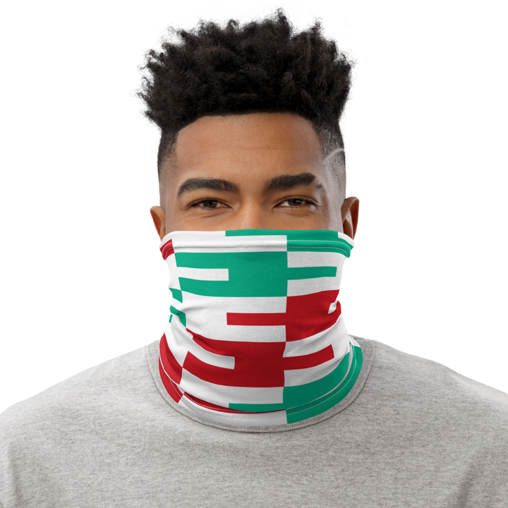 ASANTE KENTE 'AFA' (white) — Neck Gaiter
