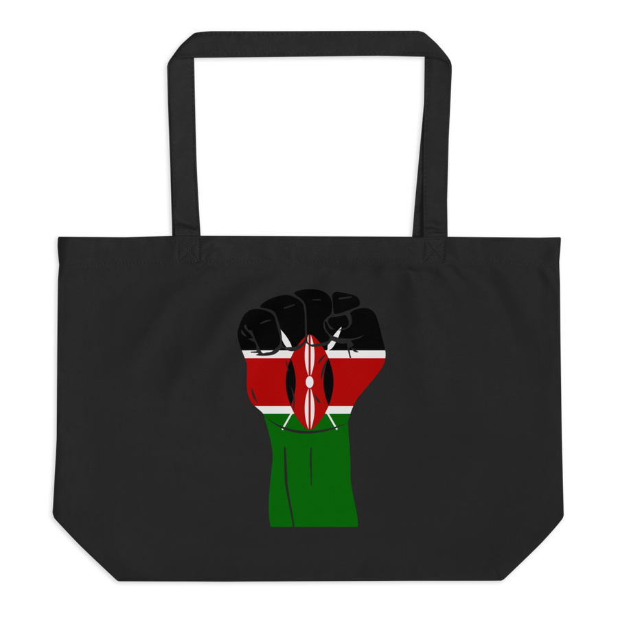 RAISED FIST 'KENYA' — Organic Tote Bag