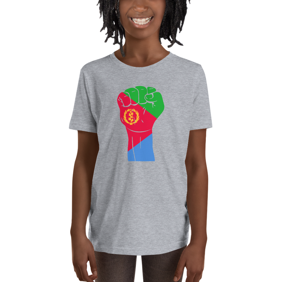 RAISED FIST 'ERITREA' — Short-sleeved Youth T-shirt