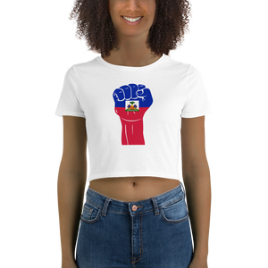 RAISED FIST 'HAITI' — Women's Crop Tee