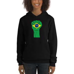 RAISED FIST 'BRAZIL' — Women's Pullover Hoodie