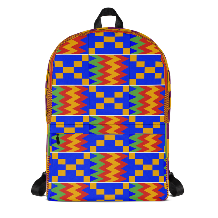 Asante Kente Print 'Aduonu' — Backpack