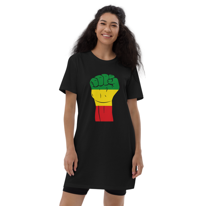 Raised Fist 'Rasta' — Organic T-shirt Dress
