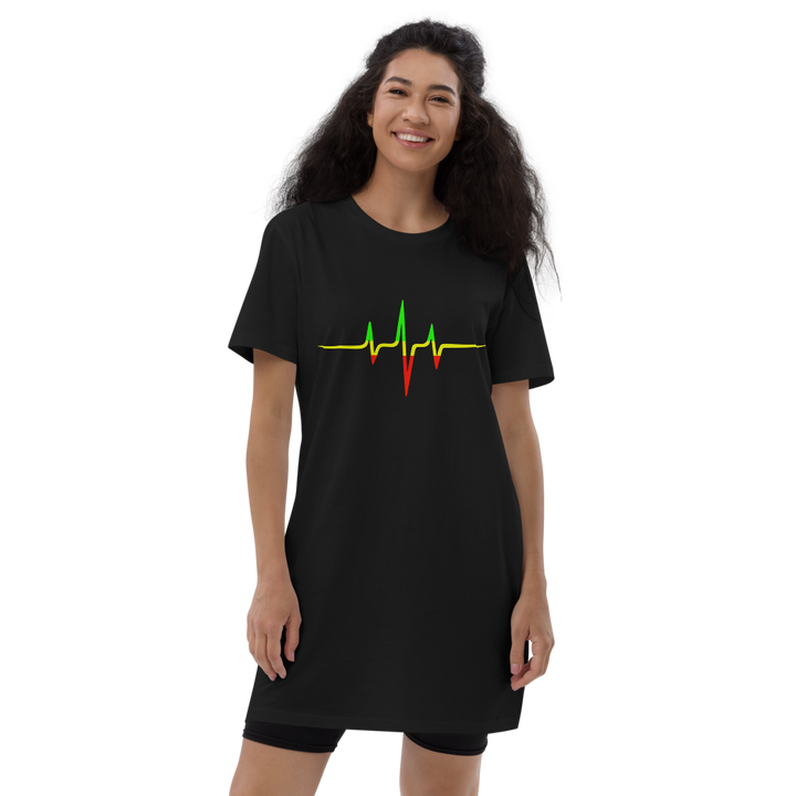 Rasta Heartbeat — Organic T-shirt Dress