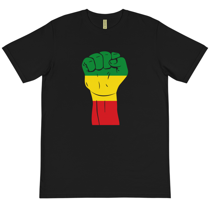 Raised Fist 'Rasta' — Organic T-shirt