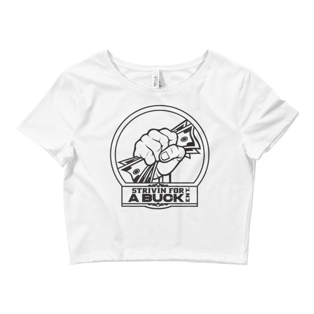 SFB Women's Crop Tee - Strivin For A Buck Ent Merch
