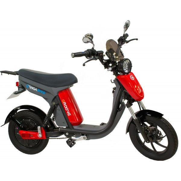 V2- GigaByke Groove 2.0 - 750W Electric Motorized Bike (Red)