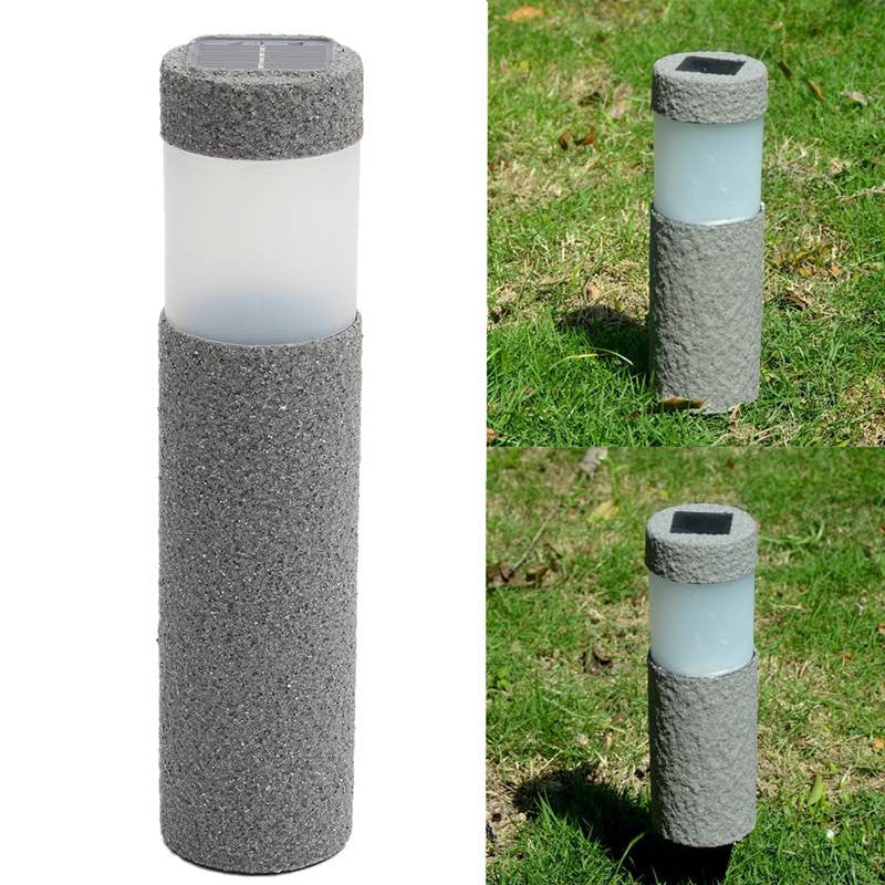 Solar Power Gray Stone Pillar LED Solar LightGarden For Outdoor Lighting Lawn Decoration  1.2V - Sunporium