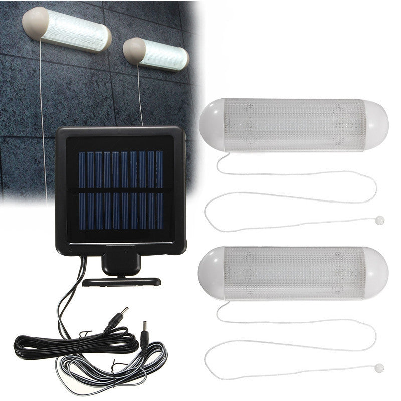 Waterproof 5V Solar Powered 2pcs LED Solar Outdoor Light Bulb - Sunporium